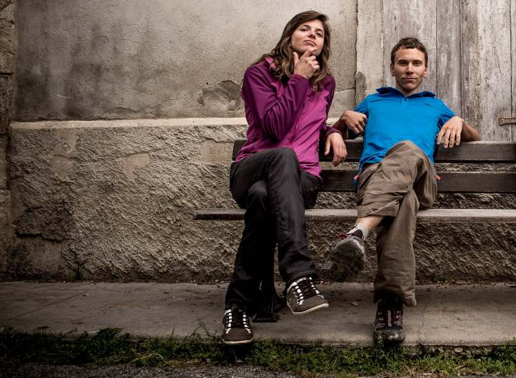 Nina Caprez and Jonathan Siegrist. Photo: Keith Ladzinski