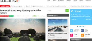 Solaris wordpress theme