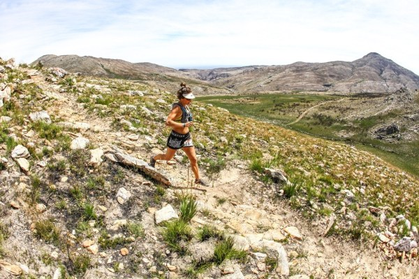 Katja Sogott was one of a number of trail running starts to take part in the 2016 Dryland Traverse, when she ran to the women's category victory alongside Chantel Nienaber. Photo by Oakpics.com.