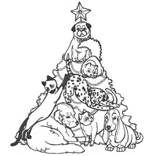 Medium Crop Of Christmas Tree Coloring Page