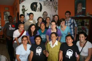 Stacey and her group on her El Salvador immersion meeting with the phenomenal Comadres, January 2012