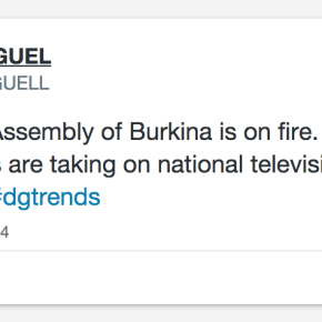 African Youth Activate a Continental Response to Burkina Faso Protests