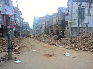 Aftermath of this weekend's earthquake in Katmandu, Nepal. Photo credit: Saurav Rana