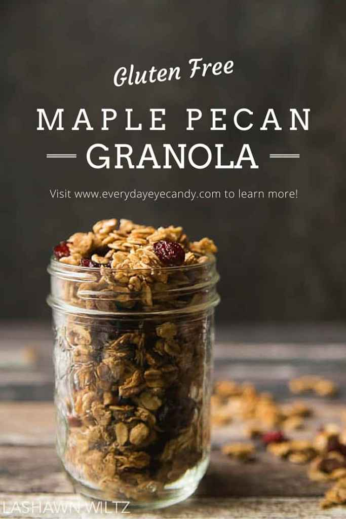 your own granola is not hard! This gluten free maple pecan granola ...