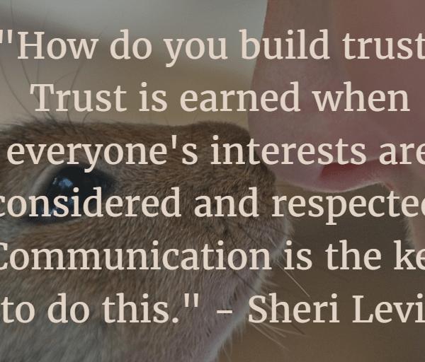 Earning Trust #MondayMusings