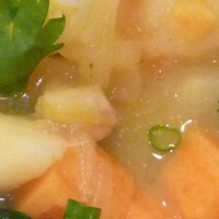 Sweet Potato Leek Soup with Fresh Spinach
