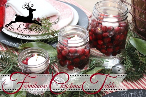 A Farmhouse Christmas Tablescape by The Everyday Home