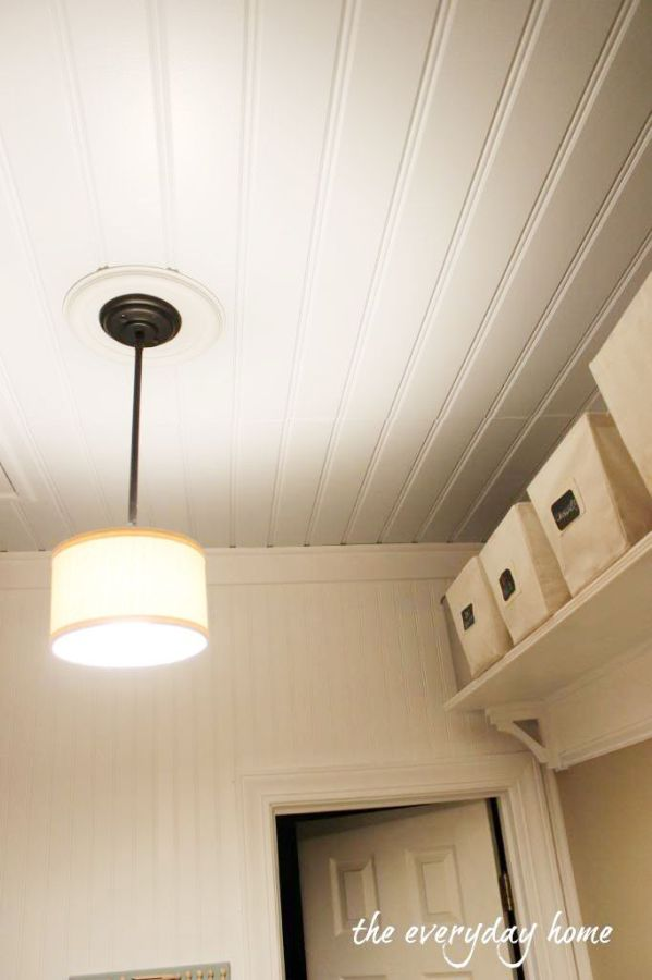 Laundry Room Ceiling | The Everyday Home | www.everydayhomeblog.com