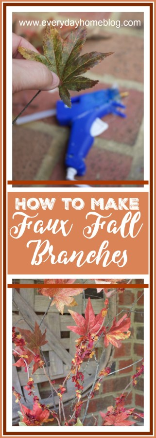 DIY Easy Faux Fall Branches | The Everyday Home | www.everydayhomeblog.com