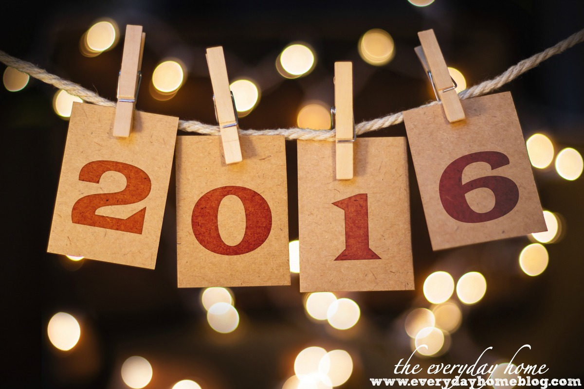 Happy New Year 2016   The Everyday Home   www.everydayhomeblog.com
