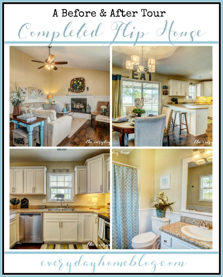 Before and after fixer upper the everyday home for Staging a house before and after