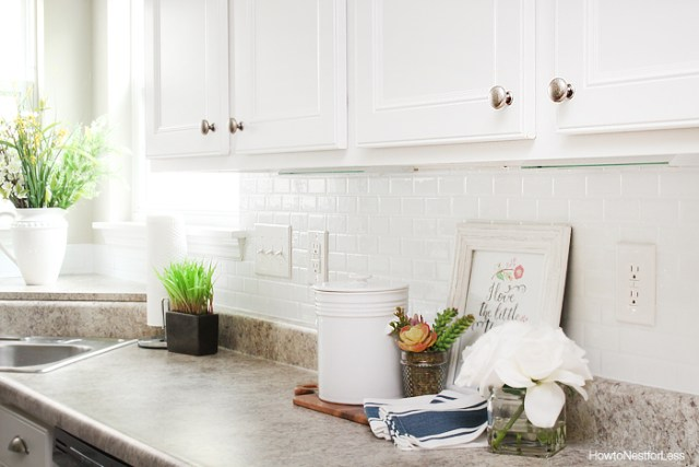 self adhesive kitchen backsplash by how to nest for less