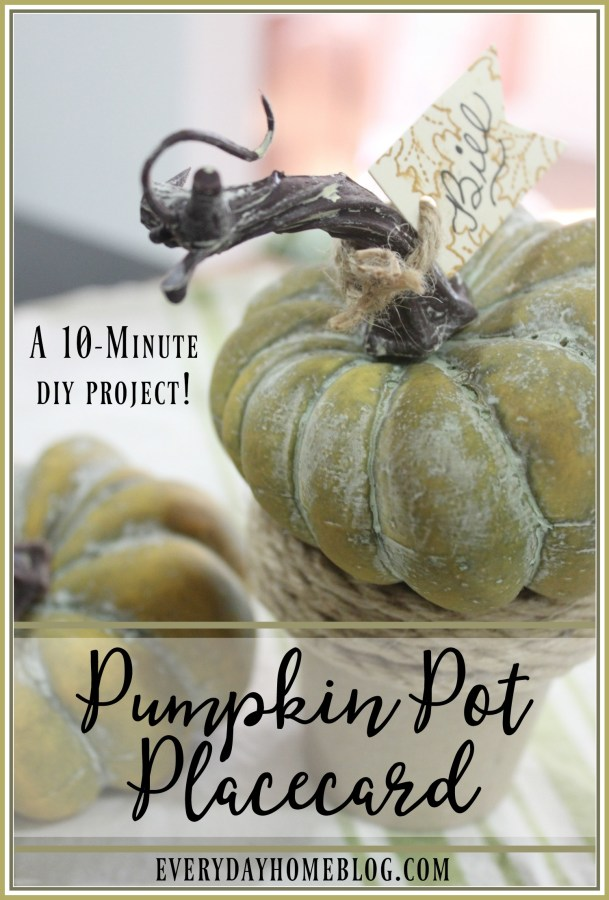 10-Minute Pumpkin Pot Placecard | The Everyday Home | www.everydayhomeblog.com