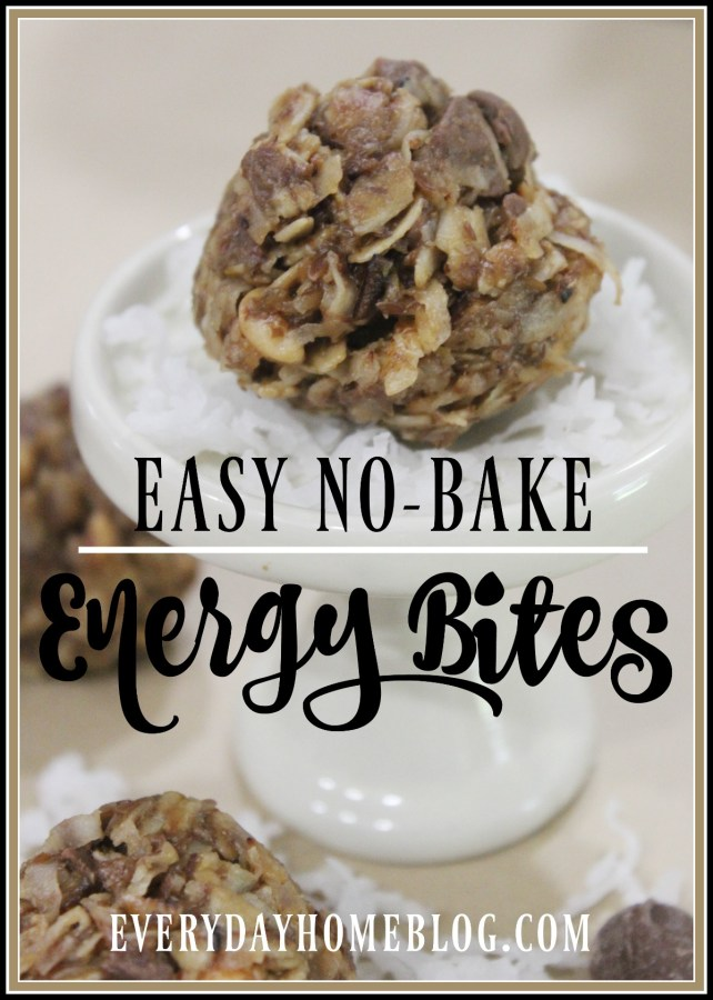 No Bake Energy Bites |  Everyday Home Blog | www.everydayhomeblog.com