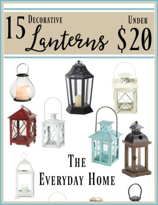 15 Farmhouse Lanterns on Amazon Under $20
