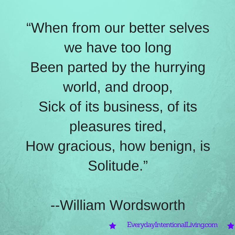 Thought for the Day, Wordsworth