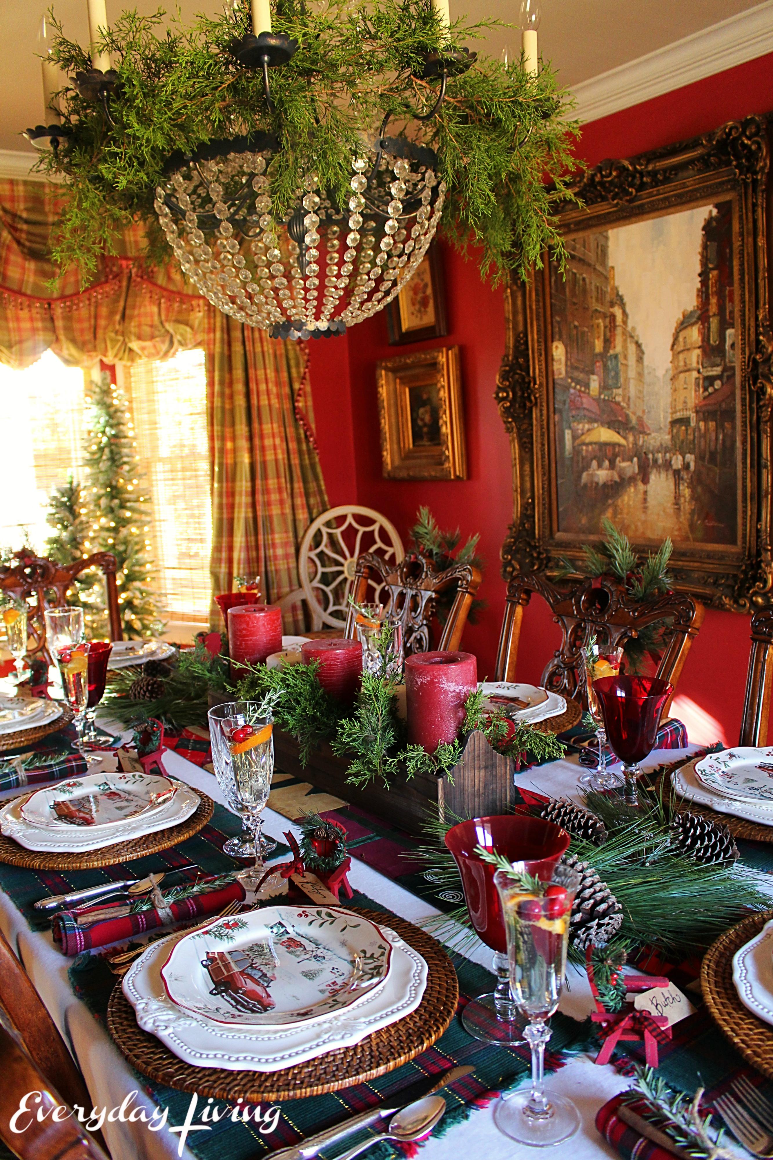 Holiday Tablescape Blog Hop: Plaid Tidings