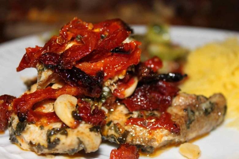 recipe: chicken asparagus sun dried tomatoes pesto [37]