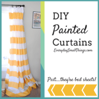 DIY :: $38 Painted Curtains