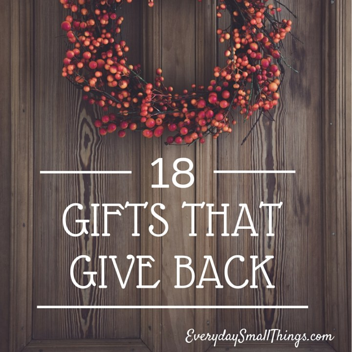 Gifts that Give Back   EverydaySmallThings.com
