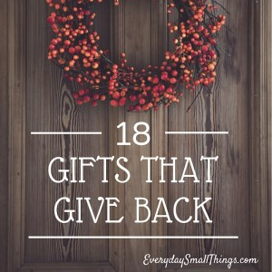 Gifts that Give Back | EverydaySmallThings.com