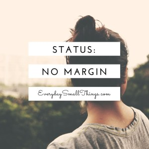 No Margin :: EverydaySmallThings.com