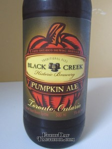 Black Creek Pumkin Ale front label