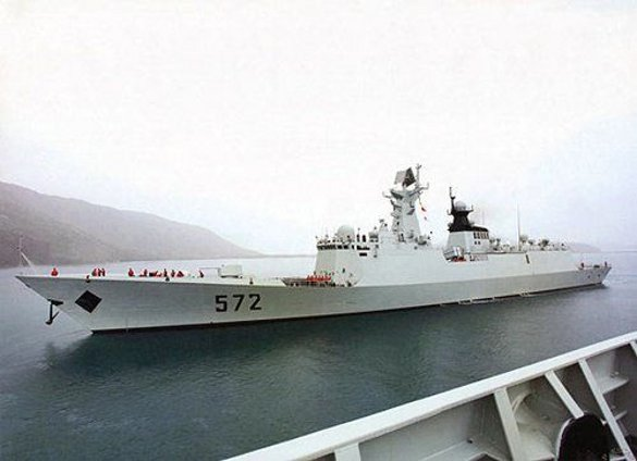 China's amphibious troop ship Jinggangshan
