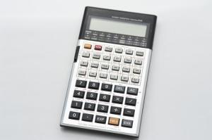 Scientific calculator isolated