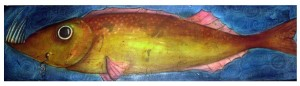 ENCAUSTIC FISH Celia Buchanan ENCAUSTIC MIXED MEDIA 8 X 30: 2011