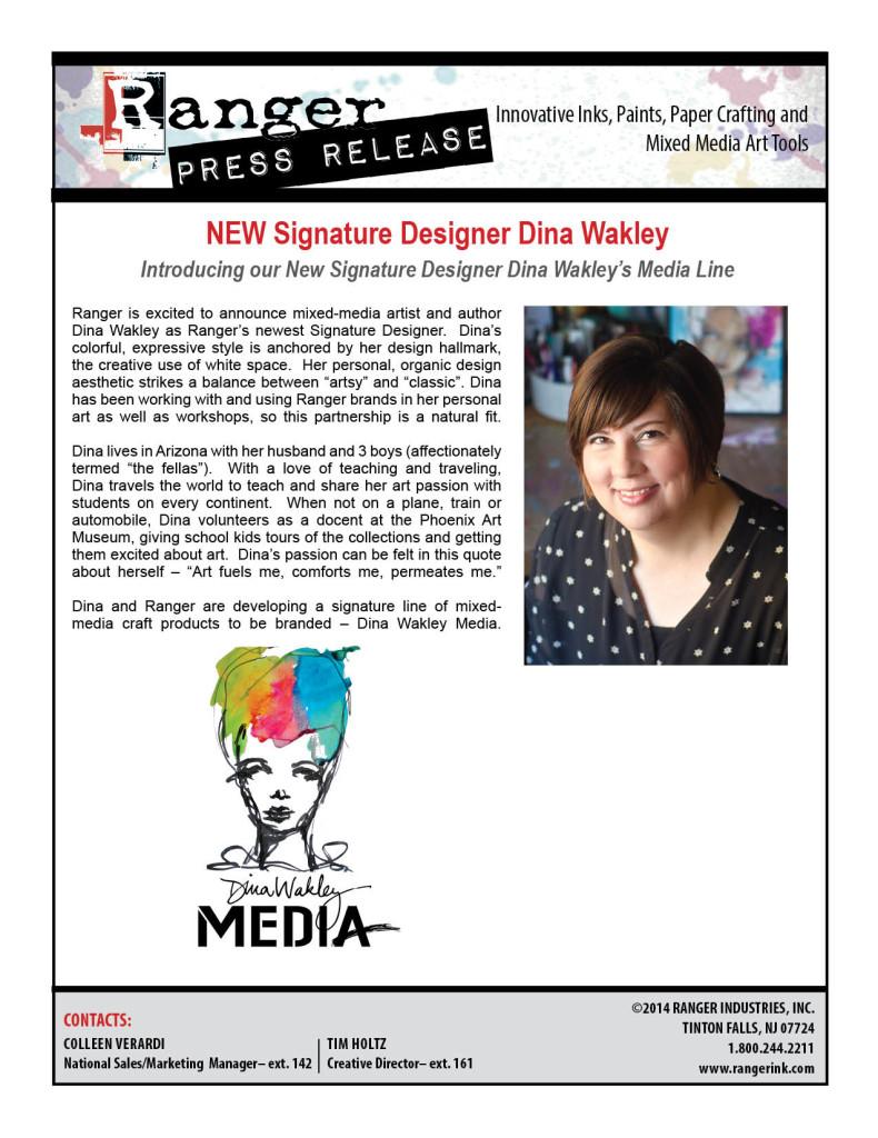 Announcing Ranger's Newest Signature Designer - Dina Wakley