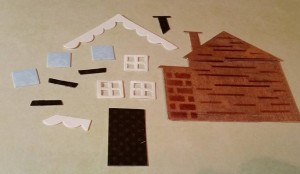 Elizabeth Crafts deconstructed house die cut