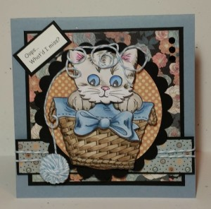 Stampendous Pop Up Kitties Card