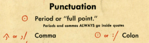Artful Proofreading Marks