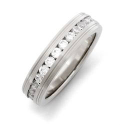 Precious Engraved Stainless Steel Cz Eternity Band Fake Engagement Rings Fake Diamond Rings Fake Wedding Rings Fake Diamond Rings Australia Fake Diamond Rings Ebay