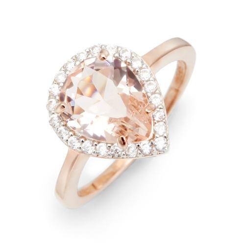 Medium Of Morganite Rose Gold Ring