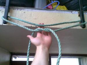 pull ups with a rope