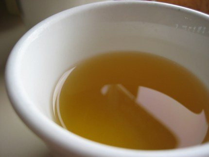 A cup of green tea