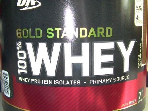 new tub of optimum nutrition whey