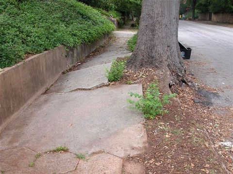 Sidewalk in Atlanta
