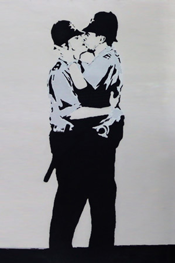 Banksy-Kissing-Coppers-Police-by-Banksy