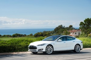 tesla model s white