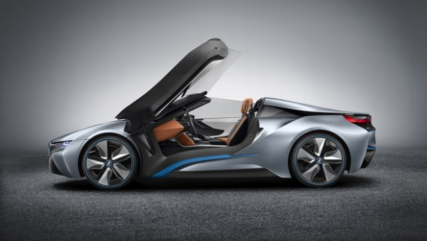 bmw i8 roadster side doors up