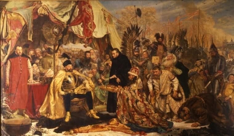 Jan Matejko - Batory pod Pskowem