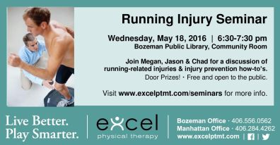 running injury seminar info