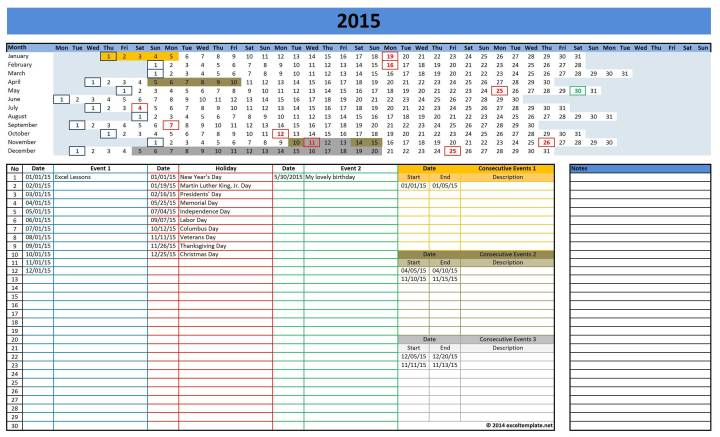 Excel Templates Excel Spreadsheets 2015 Calendars.Odsp Payment Dates ...