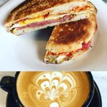 #Breakfast @5sensescafe as a bit of a #treat  Is #Wednesday #Cheatday? #Bacon #Egg Roll and #FlatWhite #MorningCoffee #Coffee #NoCoffeeNoWorkee