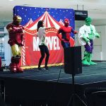 Times must be tough for the #JusticeLeague with #IronMan #Spiderman and the #Hulk doing #childrensentertainment during school holidays.  #Holiday #Fun #LiveShow @thehyperdome #Marvel @marvel #Igerscanberra