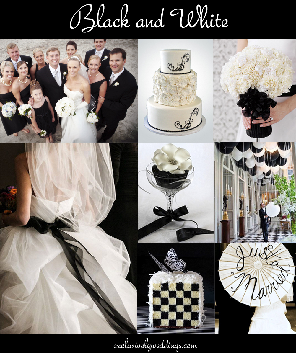 the 10 all time most popular wedding colors teal dresses for wedding Black and White Wedding Colors