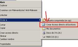 enviar a desktop (create shortcut)